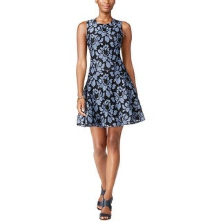 Tommy Hilfiger Womens Casual Dress Floral Lace