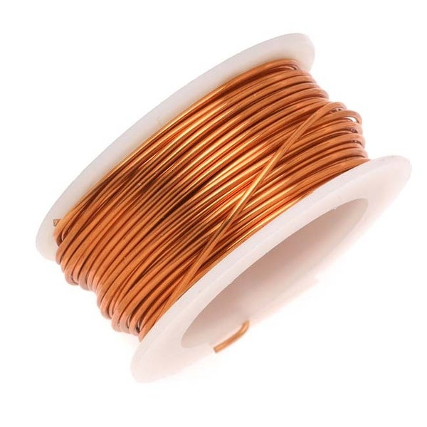 Artistic Wire, Copper Craft Wire 22 Gauge Thick, 8 Yard Spool, Tarnish Resistant Natural Copper