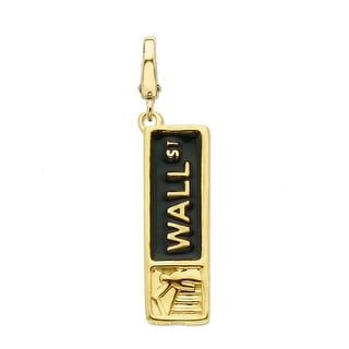 Manhattan Collection: Wall Street Enamel Charm in 14K Gold - YELLOW