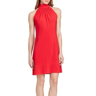 American Living Women's Mock Neck Jersey Dress Coral Size 6 - Red