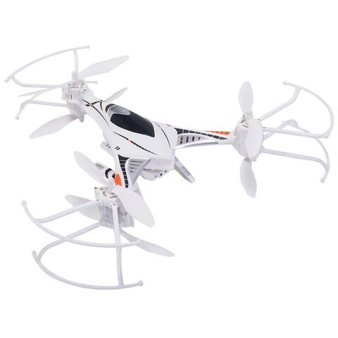 Costway Gyro RC Quadcopter FPV W/ LED Light &HD Camera - White