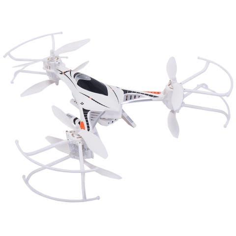 Gymax Gyro RC Quadcopter FPV W/ LED Light &HD Camera - White