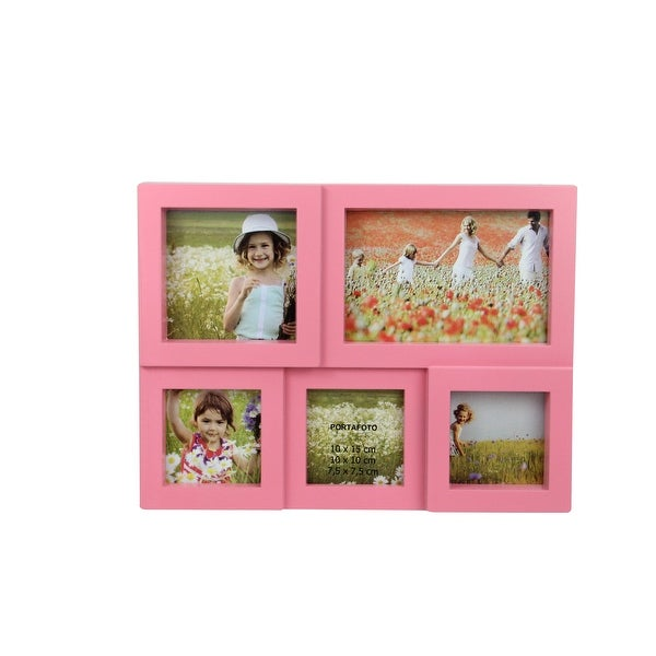 """11.75"""" Pink Multi-Sized Puzzled Collage Picture Frame - other-frame-size"""