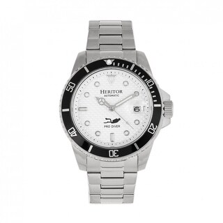 Heritor Automatic Lucius Bracelet Watch w/Date - Silver/White