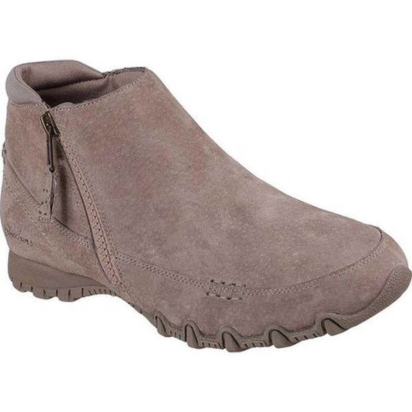 11243416fc66 Shop Skechers Women s Relaxed Fit Bikers Zippiest Ankle Boot Mushroom - On  Sale - Free Shipping Today - Overstock - 23559532