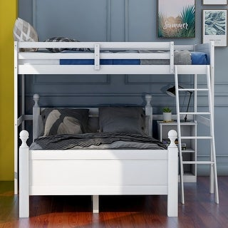 Link to Twin over full loft bed with cabinet,white Similar Items in Kids' & Toddler Furniture