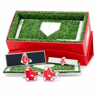 Boston Red Sox Cufflinks, Money Clip and Tie Bar Gift Set