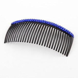 Unique Bargains Blue Faux Crystal Accent Comb Shape 29 Tooth Hair Clip Clamp for Girls