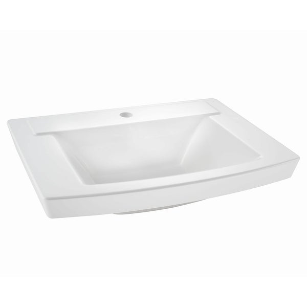 """American Standard 0329.001 Townsend 24"""" Rectangular Fireclay Console & Drop In Bathroom Sink with Single Faucet Hole and"""