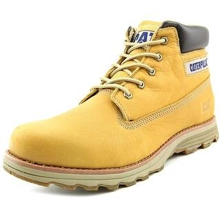 Caterpillar Founder Men  Round Toe Leather Tan Boot