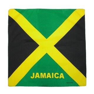 CTM® Cotton Jamaica Flag Bandana Set (Pack of 12) - one size