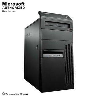 Lenovo M93P Tower, Intel i5-4570 3.2GHz, 16GB DDR3, 3TB HDD, DVD, WIFI, BT 4.0, HDMI, W10P64 (EN/ES)-Refurbished