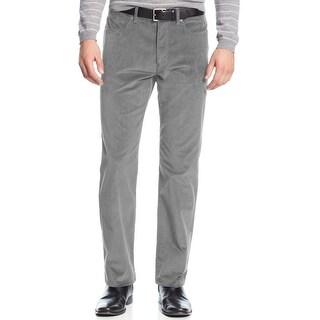Calvin Klein CK Slim Fit Tapered Corduroy Pants Concrete Grey 30 x 30