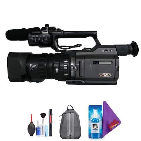 Sony DSR-PD170P PAL DVCAM 3CCD Digital Camcorder, DVCAM and DV Recording + Pro Accessories Bundle