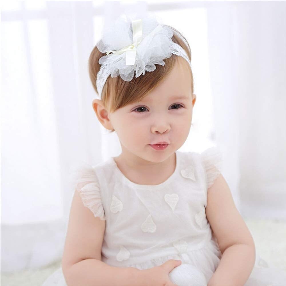 Cy/_ KF/_ AU/_ Baby Girls Kids Hollow Lace Flower Headband Headwear Hair Band Acces
