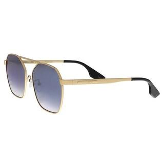 Alexander McQueen MQ0076S 004 Gold Aviator Sunglasses