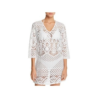 6d6ef38d60 Shop J Valdi Womens Floral Crochet Dress Swim Cover-Up - Free Shipping On  Orders Over $45 - Overstock - 26474770