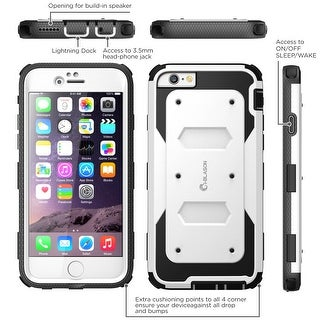 i-Blason- iphone 6, Armorbox Series Dual Layer Full Body Protection Case with Screen Protector-White