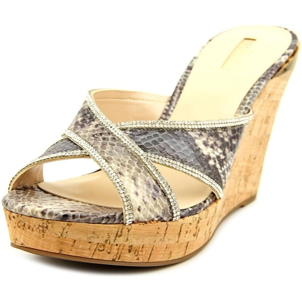 56c8c84c1bc Shop Guess Eleonora Open Toe Leather Wedge Sandal - Free Shipping On Orders  Over  45 - Overstock - 14433008