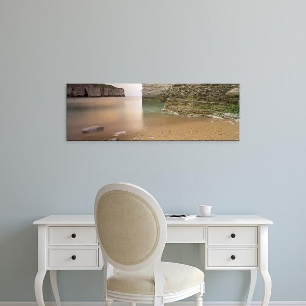 Easy Art Prints Panoramic Image 'Cliffs, North Landing, Flamborough, Yorkshire, England, United Kingdom' Canvas Art