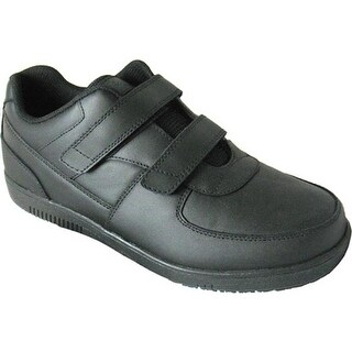 Genuine Grip Footwear Men's Slip-Resistant Injection Adjustables Black Leather