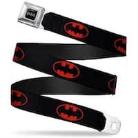 Batman Black Silver Batman Shield Black Fluorescent Red Webbing Seatbelt Seatbelt Belt