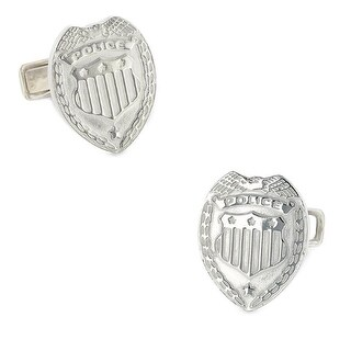 Silver Plated Police Badge Cufflinks