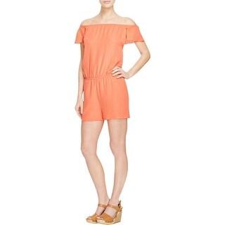 Rebecca Minkoff Womens Romper Silk Solid