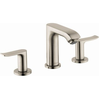 Hansgrohe 31083  Metris 1.2 GPM Widespread Bathroom Faucet with EcoRight, Quick Clean, and ComfortZone Technologies - Drain