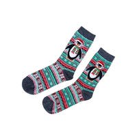 Charter Club Women's Fair Isle Penguin Socks (One Size, Grey) - Grey - os