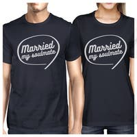 Married My Soulmate Navy Matching Couple Shirtslyweds Gifts