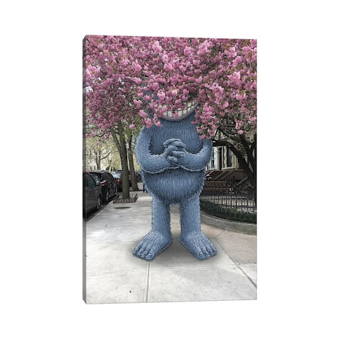 """iCanvas """"Cherry Blossoms"""" by Subway Doodle Canvas Print"""