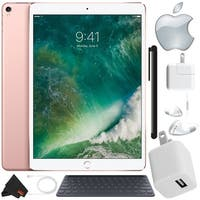 Apple iPad Pro 10.5 inch (64GB, Wi-Fi 4G LTE, Rose Gold) Pro Bundle