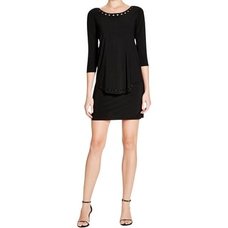 Laundry by Shelli Segal Womens Cocktail Dress Popover Embellished