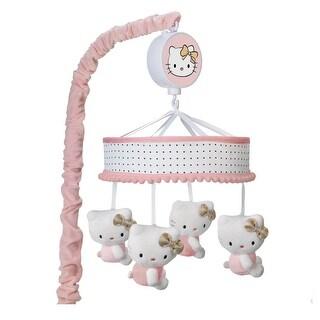 Lambs & Ivy Hello Kitty Musical Baby Crib Mobile - Pink, Gold, White, Animals, Hello Kitty, Kitty, Girl