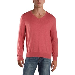 Polo Ralph Lauren Mens V-Neck Sweater Slim Fit Knit - L