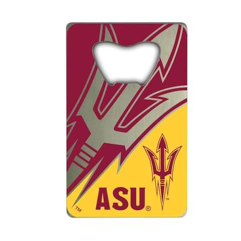 Arizona State University Metal Credit Card Bottle Opener - 2in. X 3.25in.