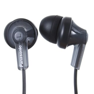 Panasonic RP-HJE120-PPK In-Ear Headphone, Black (REFURBISHED) (Option: Orange)