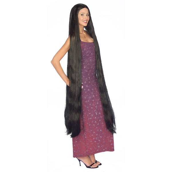 Lady Godiva Cher Extra Long Black Adult Costume Wig