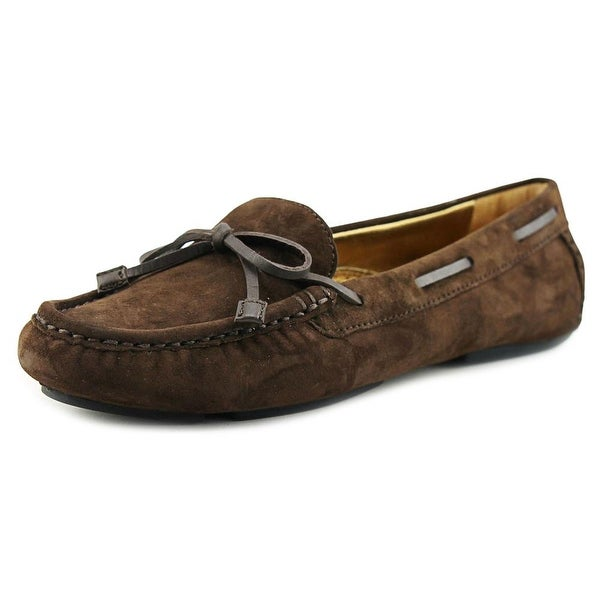 VC Signature Tawnie Women Moc Toe Suede Brown Loafer
