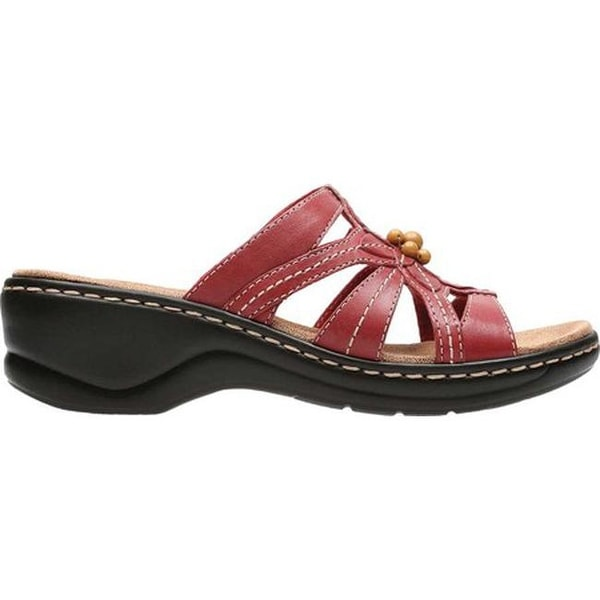 cc5bdd1e4ad Shop Clarks Women s Lexi Myrtle Red Leather - On Sale - Free Shipping Today  - Overstock - 19626506