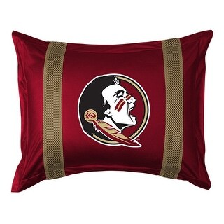 Florida State University Pillow Sham with Jersey Mesh