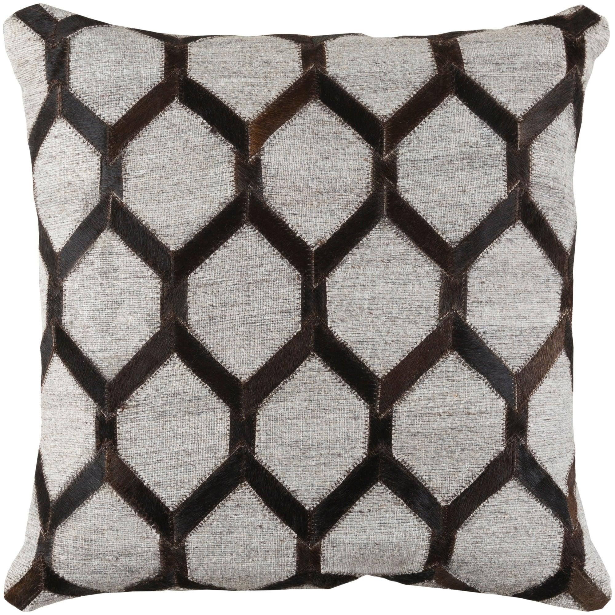 Decorative Schroeder Dark Brown 20 Inch Throw Pillow Cover Overstock 23143380