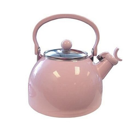 Reston Lloyd 60601 Pink - Whistling Tea Kettle With Glass Lid