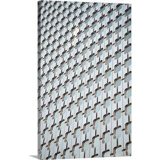 Premium Thick-Wrap Canvas entitled A detail of a modern building in Paris, France.