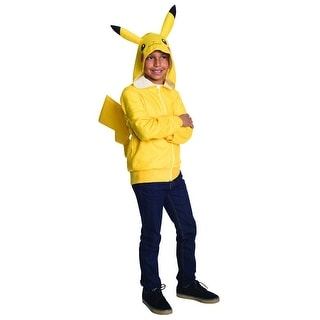 Pokemon Pikachu Yellow Hoodie Tween Costume Large,Medium,Small