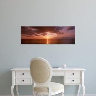 Easy Art Prints Panoramic Images's 'Sunrise Miami FL USA' Premium Canvas Art