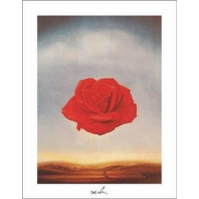 ''Meditative Rose'' by Salvador Dali Museum Art Print (14 x 11 in.)