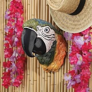 Design Toscano Paradise Parrot Head Wall Sculpture