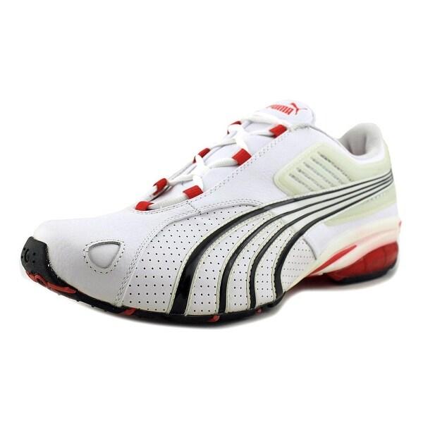 c815fa0e6c Shop Puma Tarun Lthr Men Round Toe Leather White Running Shoe - Free  Shipping Today - Overstock.com - 18658601